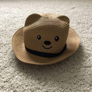 Infant Straw Bear Hat Sz 6-12 mos. NWT